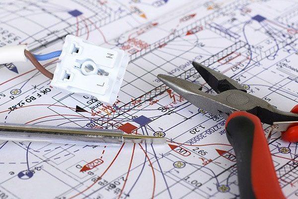 elektriker amager el-entreprise plantegning ledning
